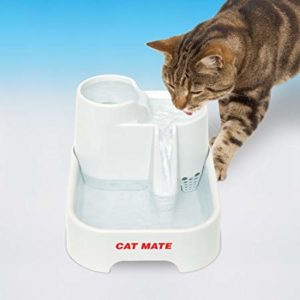Cat drinking from Cat Mate Pet Fountain